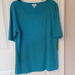 Ribbed Turquoise Lularoe Gigi top